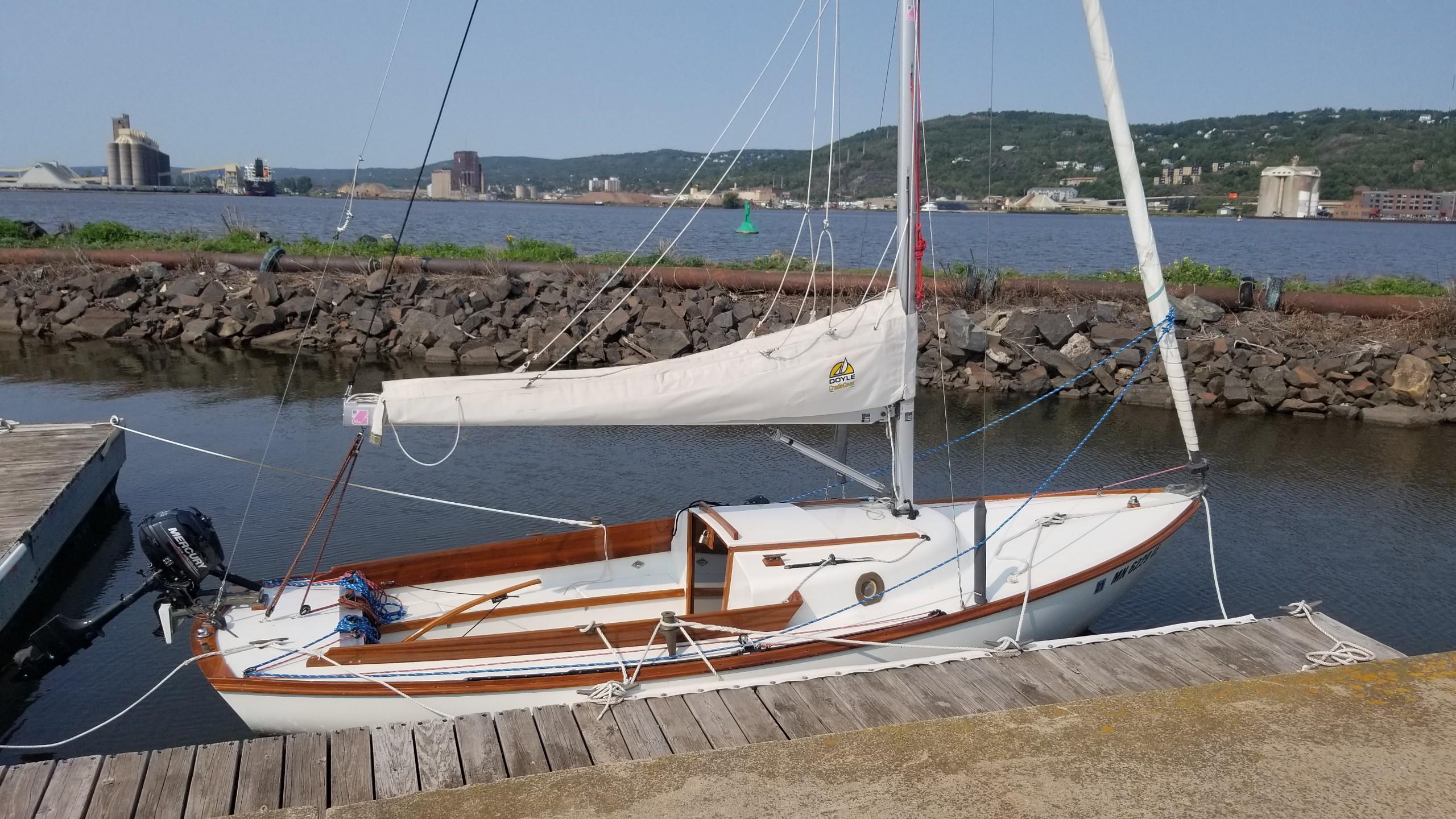 Julian Boatworks Alberg Typhoon restoration side view.